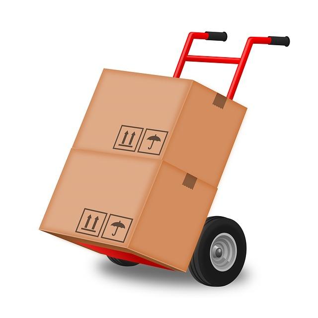 תמונה של עגלה עם קופסאות כדוגמה לנושא מעבר דירה